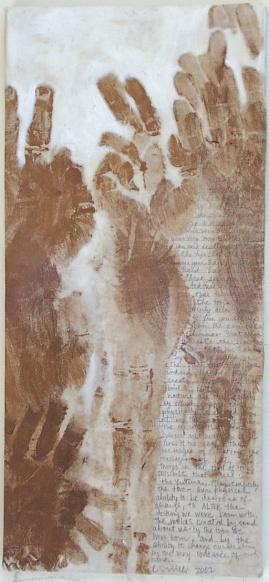 """HAND JOB"" 8 x 19"" Body Print Text"