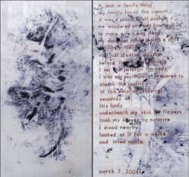 """Possum"" Direct Printing & Text on Muslin 38"" x 42"""