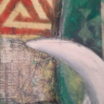 "Crazy Eye, 8x10"", Acrylic and Oil on Canvas"