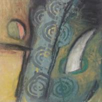 """Diablo 15x15"""" acrylic and oil on canvas"""