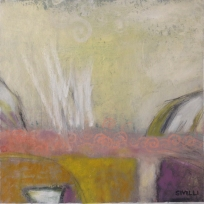 """Olivia""15 x 15"" Acrylic and oil on canvas"