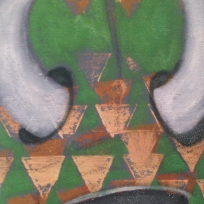 """SOLD! """"Warrior 2"""" 8x10"""" Acrylic and oil on canvas"""