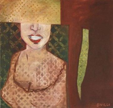 ITALIAN WOMAN 38 x 42, oil canvas