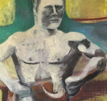 STRONG MAN 38 x 42, oil canvas