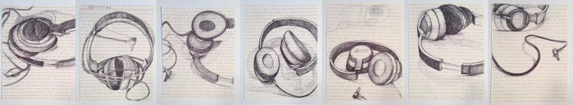 AGE 57: AMERCAN SIDESHOW : 52 groups of 7 drawings of the same subject from 7 different viewpoints