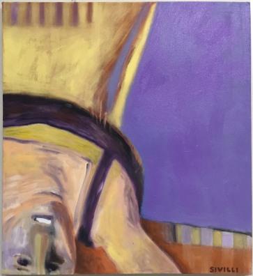 "Acrobat 2 32 x 34"" Oil on Canvas 2017"