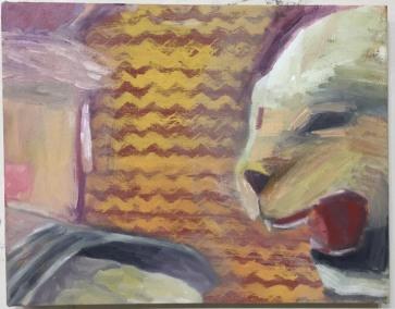 SOLD Grrrrrr 14 x 18 Oil on Canvas 2017
