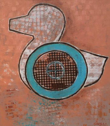 """Target"" Acrylic on Canvas, 30x34"" 2016"