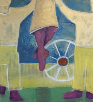 """Acrobat"" 3, 28x30"" oil on canvas, 2017"