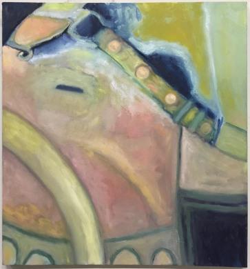 """Tusk 32 x 34"""" Oil on Canvas 2017"""