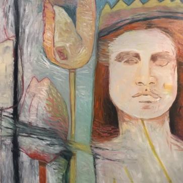 Val Sivilli Tulip Queen - Oil - Canvas - 38x42 - 2017