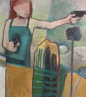 Defender of Dreams - Oil - Canvas - 50x54