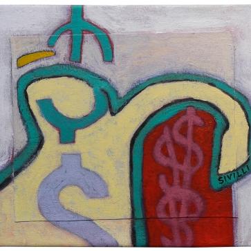 "Val Sivilli ""MADE OF MONkEY"" 2019 acrylic-on canvas 12x14"""