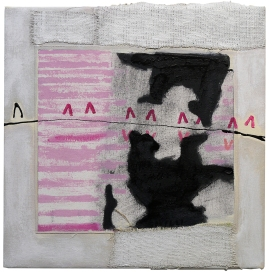 "Val Sivilli ""REFLECTION"" 2019 acrylic-on canvas 14x15"""